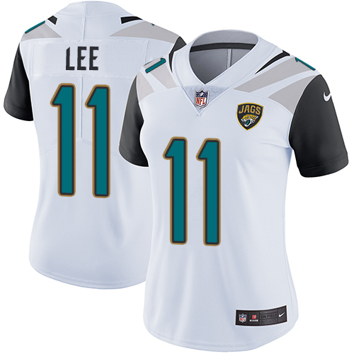 Women's Nike Jacksonville Jaguars #11 Marqise Lee White Stitched NFL Vapor Untouchable Limited Jersey