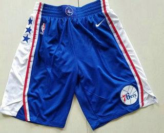 Nike Philadelphia 76ers Blue Swingman Shorts