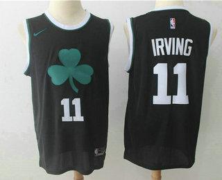 Men's Boston Celtics #11 Kyrie Irving Black 2017-2018 Nike Swingman Stitched NBA Jersey
