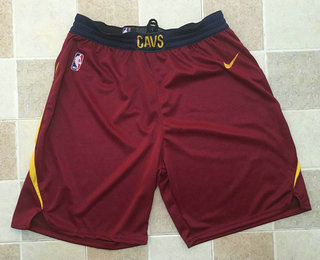 Men's Cleveland Cavaliers Red 2017-2018 Nike Swingman Stitched NBA Shorts