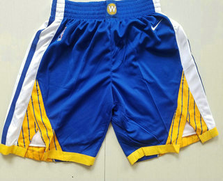 Men's Golden State Warriors Blue 2017-2018 Nike Authentic Stitched NBA Shorts