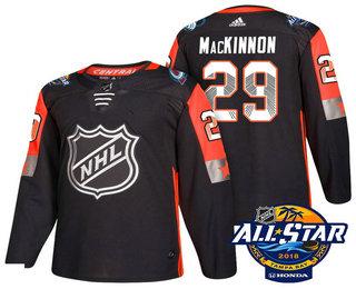 Men's Colorado Avalanche #29 Nathan MacKinnon Black 2018 NHL All-Star Stitched Ice Hockey Jersey