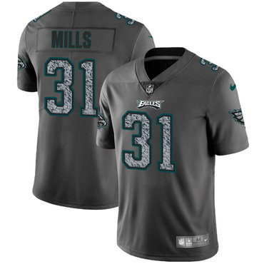 Nike Philadelphia Eagles #31 Jalen Mills Gray Static Men's NFL Vapor Untouchable Game Jersey