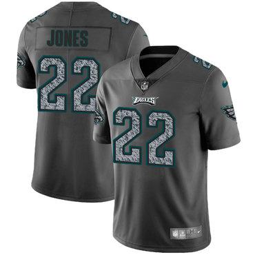 Nike Philadelphia Eagles #22 Sidney Jones Gray Static Men's NFL Vapor Untouchable Game Jersey