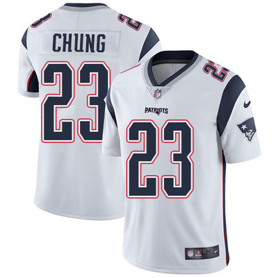 Youth Nike New England Patriots #23 Patrick Chung White Stitched NFL Vapor Untouchable Limited Jersey