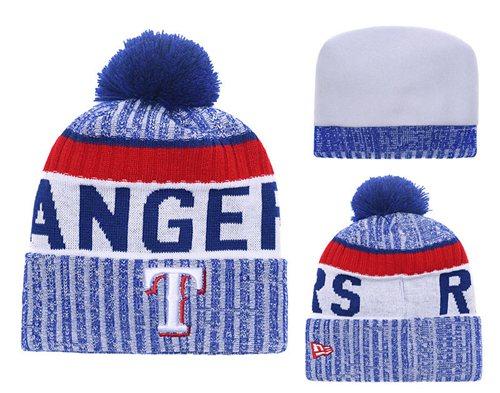 MLB Texas Rangers Logo Stitched Knit Beanies 001