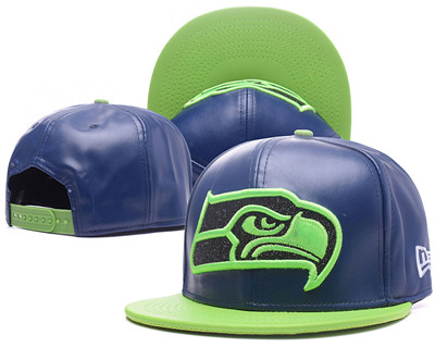 NFL Seahawks Seahawks Team Logo Navy Adjustable Hat G56