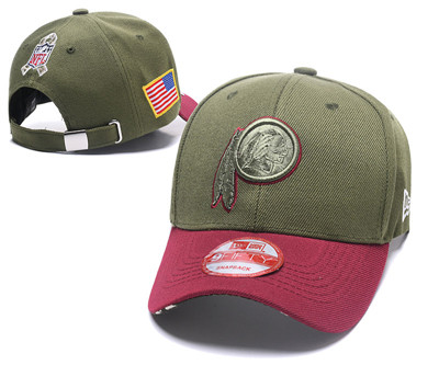 NFL Washington Redskins Team Logo Olive Peaked Adjustable Hat W12