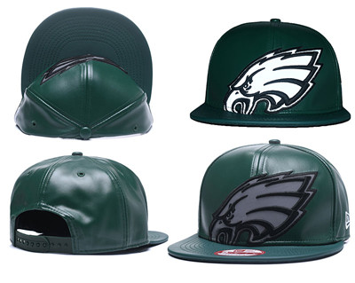 NFL Philadelphia Eagles Team Logo Green Reflective Adjustable Hat