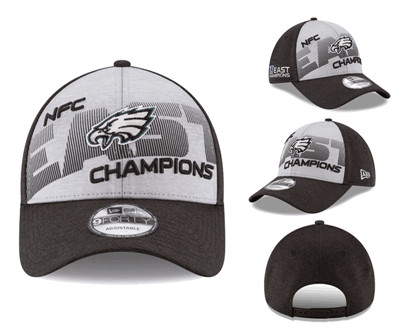 NFL Philadelphia Eagles Team Logo Gray 2018 NFC East Division Champions