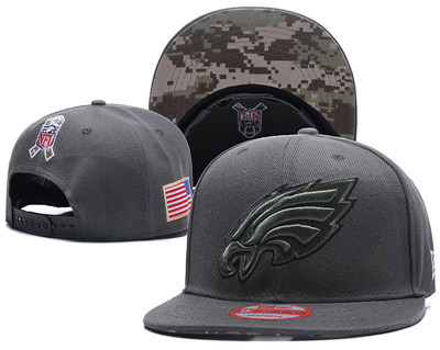 NFL Philadelphia Eagles Team Logo Salute To Service Adjustable Hat