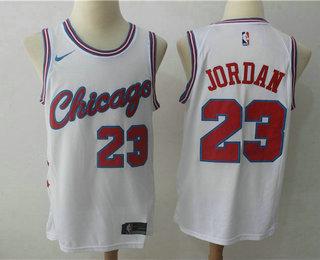 NBA bulls All Star Portrait 23 Jordan white jersey M