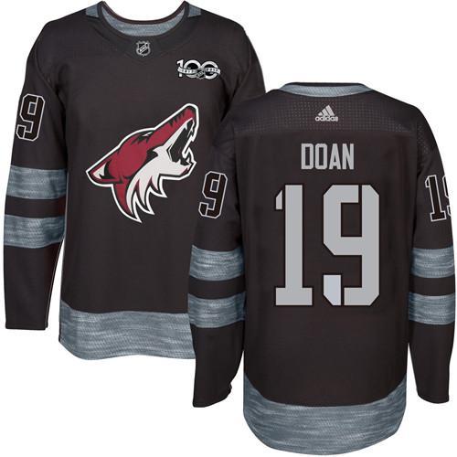 Adidas Coyotes #19 Shane Doan Black 1917-2017 100th Anniversary Stitched NHL Jersey