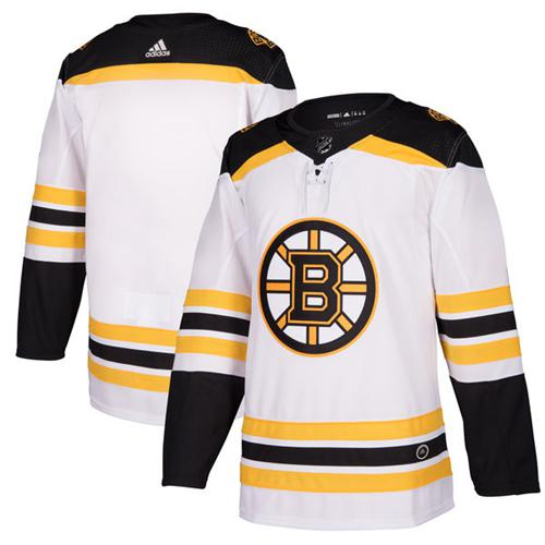 Adidas Bruins Blank White Road Authentic Stitched NHL Jersey
