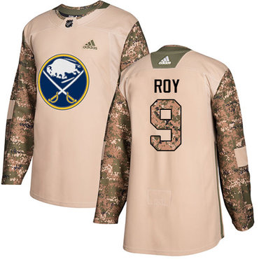 28dcea7400e Adidas Sabres #9 Derek Roy Camo Authentic 2017 Veterans Day Stitched NHL  Jersey