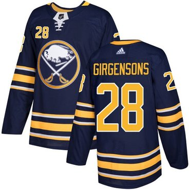 Adidas Sabres #28 Zemgus Girgensons Navy Blue Home Authentic Stitched NHL Jersey