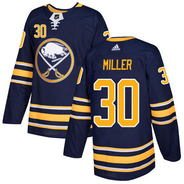 Adidas Sabres #30 Ryan Miller Navy Blue Home Authentic Stitched NHL Jersey