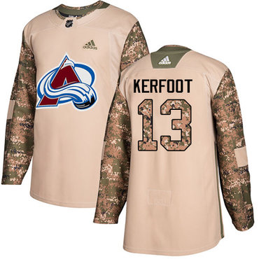 Adidas Avalanche #13 Alexander Kerfoot Camo Authentic 2017 Veterans Day Stitched NHL Jersey