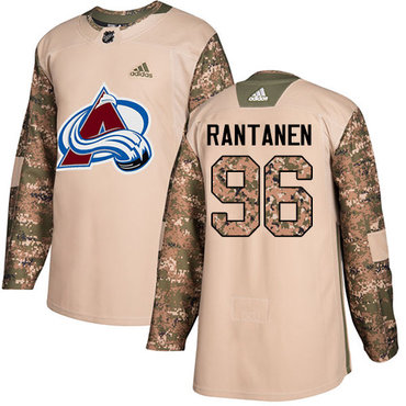 Adidas Avalanche #96 Mikko Rantanen Camo Authentic 2017 Veterans Day Stitched NHL Jersey