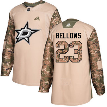 Adidas Stars #23 Brian Bellows Camo Authentic 2017 Veterans Day Stitched NHL Jersey