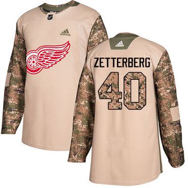 Adidas Red Wings #40 Henrik Zetterberg Camo Authentic 2017 Veterans Day Stitched NHL Jersey