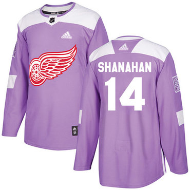 Adidas Red Wings #14 Brendan Shanahan Purple Authentic Fights Cancer Stitched NHL Jersey