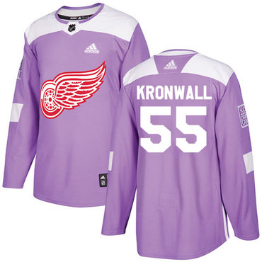 Adidas Red Wings #55 Niklas Kronwall Purple Authentic Fights Cancer Stitched NHL Jersey