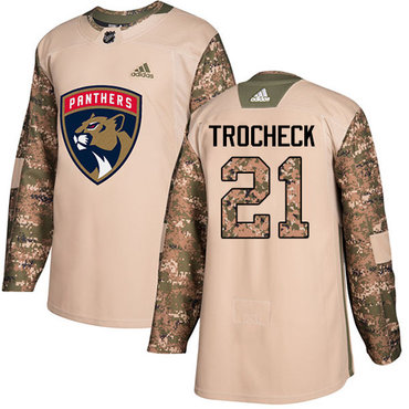 Adidas Panthers #21 Vincent Trocheck Camo Authentic 2017 Veterans Day Stitched NHL Jersey