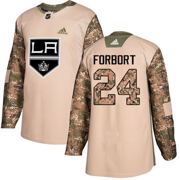 Adidas Kings #24 Derek Forbort Camo Authentic 2017 Veterans Day Stitched NHL Jersey