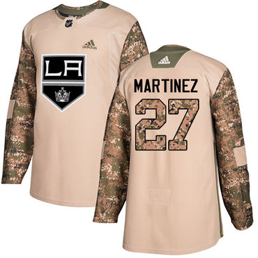 Adidas Kings #27 Alec Martinez Camo Authentic 2017 Veterans Day Stitched NHL Jersey