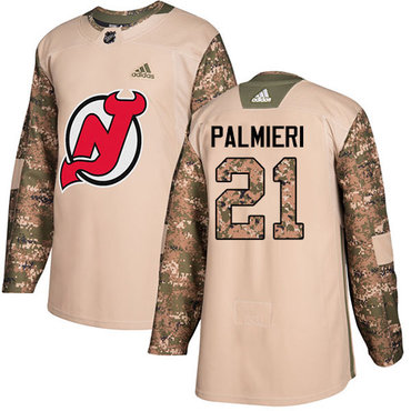 Adidas Devils #21 Kyle Palmieri Camo Authentic 2017 Veterans Day Stitched NHL Jersey