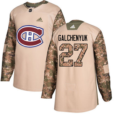Adidas Canadiens #27 Alex Galchenyuk Camo Authentic 2017 Veterans Day Stitched NHL Jersey