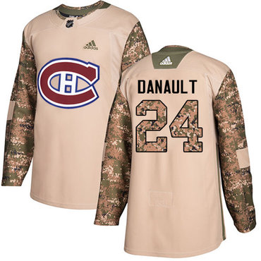 Adidas Canadiens #24 Phillip Danault Camo Authentic 2017 Veterans Day Stitched NHL Jersey