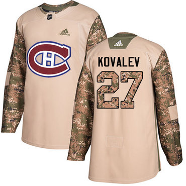 Adidas Canadiens #27 Alexei Kovalev Camo Authentic 2017 Veterans Day Stitched NHL Jersey