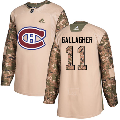 Adidas Canadiens #11 Brendan Gallagher Camo Authentic 2017 Veterans Day Stitched NHL Jersey