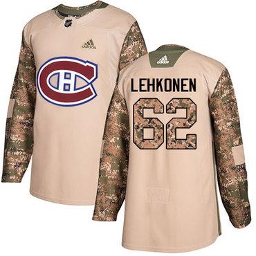 Adidas Canadiens #62 Artturi Lehkonen Camo Authentic 2017 Veterans Day Stitched NHL Jersey
