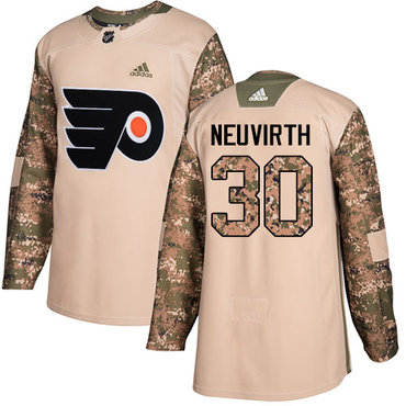 Adidas Flyers #30 Michal Neuvirth Camo Authentic 2017 Veterans Day Stitched NHL Jersey