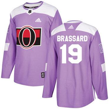 Adidas Senators #19 Derick Brassard Purple Authentic Fights Cancer Stitched NHL Jersey