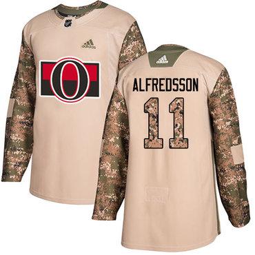 Adidas Senators #11 Daniel Alfredsson Camo Authentic 2017 Veterans Day Stitched NHL Jersey