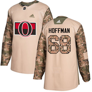 Adidas Senators #68 Mike Hoffman Camo Authentic 2017 Veterans Day Stitched NHL Jersey