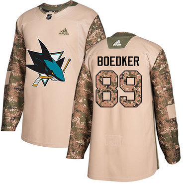 Adidas Sharks #89 Mikkel Boedker Camo Authentic 2017 Veterans Day Stitched NHL Jersey