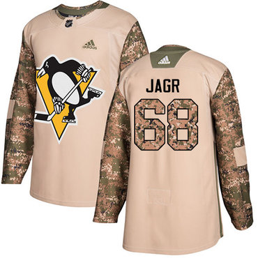 Adidas Penguins #68 Jaromir Jagr Camo Authentic 2017 Veterans Day Stitched NHL Jersey