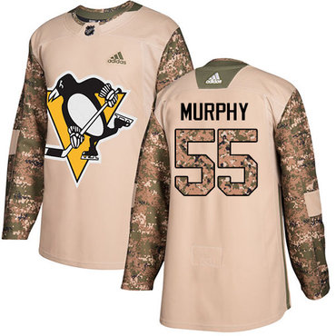 Adidas Penguins #55 Larry Murphy Camo Authentic 2017 Veterans Day Stitched NHL Jersey