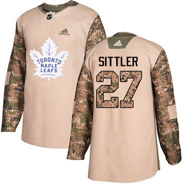 Adidas Maple Leafs #27 Darryl Sittler Camo Authentic 2017 Veterans Day Stitched NHL Jersey