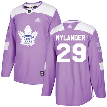 Adidas Maple Leafs #29 William Nylander Purple Authentic Fights Cancer Stitched NHL Jersey