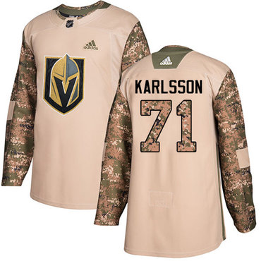 Adidas Golden Knights #71 William Karlsson Camo Authentic 2017 Veterans Day Stitched NHL Jersey