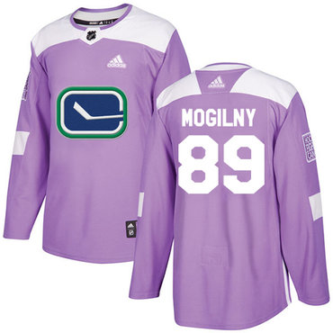 Adidas Canucks #89 Alexander Mogilny Purple Authentic Fights Cancer Stitched NHL Jersey
