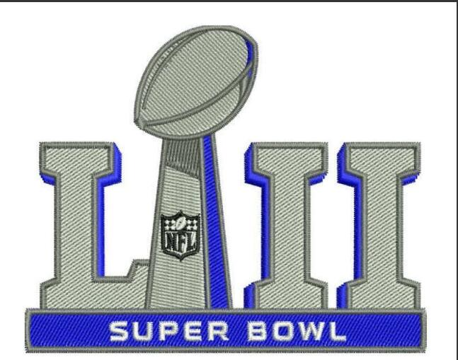 2018 Super Bowl LII 52 Patch
