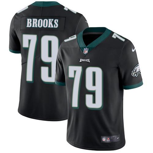 Nike Eagles #79 Brandon Brooks Black Alternate Men's Stitched NFL Vapor Untouchable Limited Jersey
