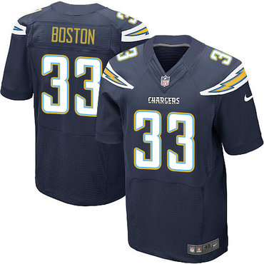 Nike Chargers #33 Tre Boston Navy Blue Team Color Men's Stitched NFL New Elite Jersey